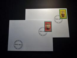 Belgie - Belgique 2012 - OBP - 4240/41Rwanda – 50 – Burundi - 2 Enveloppes Gestempeld 19.05.2012 Lier - Gebraucht