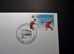 Belgie - Belgique 2012 - OBP -4243  - The Olympic Games 2012  - 1 Enveloppe Gestempeld 19.05.2012 Lier - Gebraucht
