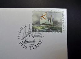 Belgie - Belgique 2012 - OBP - 4257 -  Zeilschip Zenobe Gramme - 1 Enveloppe Gestempeld 15.09.2012 Temse - Used Stamps