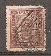 1892- Yv. N° 74a Dent 13 1/2 Papier Couché (o) 100r Lilas-brun S Jaune  Charles  Cote 15euro BE   2 Scans - Usado