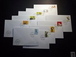 Belgie - Belgique 2012 - OBP - 4258/67 -  België Stripland - 10 Enveloppe Gestempeld 14.09.2012 Temse - Used Stamps