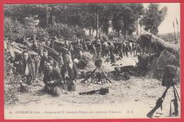 Guerre 1914-1918_  Campement De LANCIERS BELGES Aux Environs D'ANVERS * 2 Scans - Oorlog 1914-18