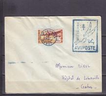 AEF GABON FRANCE LIBRE OBL AVIPOSTE MAYUMBA PAS D'ARRIVEE - Storia Postale