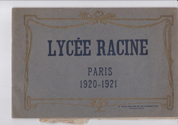 PARIS LYCEE RACINE LIVRET PUBLICITAIRE 1920/1921 - Organizations