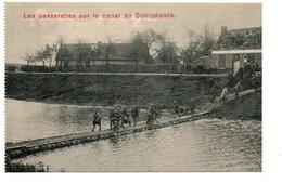 Schipdonck - Zomergem - Stoktevijver - Les Passerelles Sur Le Canal De Schipdonck - Militaria / Soldats - 2 Scans. - Zomergem