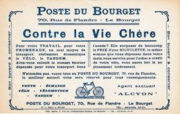 BUVARD & BLOTTER - Poste Du Bourget - Vente Vélo Vélomoteur Tandem - Agent ALCYON - LE BOURGET - Sin Clasificación