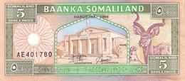 Somaliland (BOS) 5 Shillings 1994 UNC Cat No. P-1 / SOL101a - Somalia