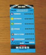 Pub Magnet Numéros Urgences 67 Bas-Rhin 14 X 7 Cm - Otros