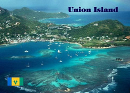 Saint Vincent And Grenadines Union Island Aerial View New Postcard - Saint Vincent En De Grenadines