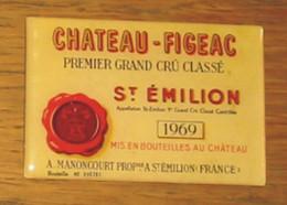 Pub Magnet Château  Figeac St Emilion 1969 Manoncourt  9 X 6 Cm - Turismo