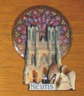 Pub Magnet Cathédrale De Reims 9 X 6.5 X 1 Cm - Turismo