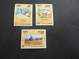 K47138 -  Set  MNH Cambodge - Cambodia 1990 - SC. 1027-1029 - Rice - Food