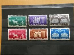 """LUXEMBOURG Série Complète """"Europe Unie"""" N° 443 à 448 Pré-Europa  Cote 250 € Neufs Sans Charnière MNH - Unused Stamps"""