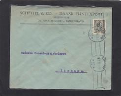 SCHEITEL & CO. DANSK FLINTEXPORT , KOBENHAVN. BRIEF NACH LIMHAMM,SCHWEDEN. - Lettres & Documents