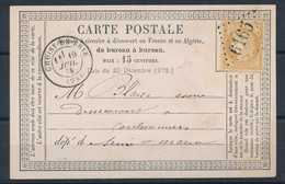 P-593: FRANCE: Lot Avec Carte Lettre Avec N°59  Obl GC 6165 Ind 16 Choisy En Brie (73) - Cartes Précurseurs