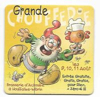 SOUS BOCK Nr 60 / BIERE BRASSERIE LA CHOUFFE / HOUFFALIZE - Beer Mats