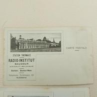 BAUDOUR Institut Médico-thermal De Baudour Maison De Traitements Et Station Thermale Radio Institut 2 Cartes - Saint-Ghislain