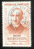 République Française - G1/19 - (°)used - 1959 - Michel 1267 - Henri Bergson - Paris XIV - Usados