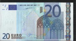 "20 EURO ""U"" FRANCE - FRANCIA E001 CIRCULE/CIRCULATED DUISENBERG - 20 Euro"