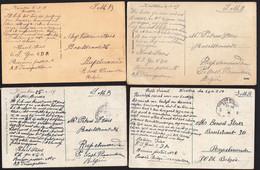 10 X AK XANTEN Mit OCCUPATION BELGE 1919 - BELGISCHE BESETZUNG AUF RÜCKSEITE - Nach RUPELMONDE - Xanten