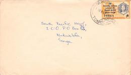TONGA - LETTER 1968 NUKUALOFA /QD124 - Tonga (1970-...)
