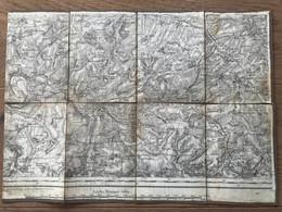 Carte Entoilée -  Secteur PERONNE (Somme)  1:80 000 - 1914-18