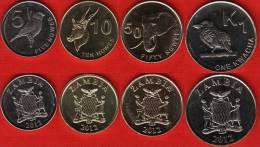 Zambia Set Of 4 Coins: 5 Ngwee - 1 Kwacha 2012 UNC - Zambia