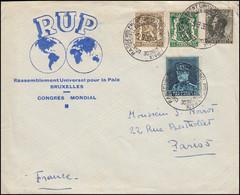 Schmuck-Brief Rassemblement Universel Pour La Paix Mit SSt Brüssel 5.9.1936 - Altri