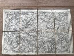 Carte Entoilée -  Secteur DOULLENS (Somme)  1:80 000 - 1914-18