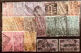 België, 1923-1931 -- 19x Zegel Tussen TR156/167, Allemaal Met Stempel NORD-BELGE - Nord Belga