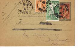 JEUX OLYMPIQUES 1924 -  ENTIER POSTAL + N°183 - VOYAGE - - 1921-1960: Modern Period