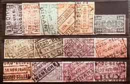 België, 1941 -- 14x Zegel Tussen TR237/255, Allemaal Met Stempel NORD-BELGE - Nord Belga