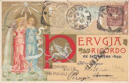 Perugia - Ricordo - XX Settembre1899 - Inaugurazione Acquedotto , Luce Elettrica  - F. Piccolo - Viagg - Bellissima - Perugia