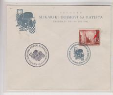 CROATIA 1942 ZAGREB Nice Cover Militaria + Hand Cancel + Engrrawer U , RR - Croacia