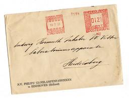 NEDERLAND POSTERUEN EMA EINDHOVEN 1933 - Briefe U. Dokumente