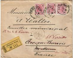 CTN67/ETR/2 - EMPIRE AUTRICHIEN -  LETTRE RECOMMANDEE TROPPAU / ARC EN BARROIS  7/4/1898 ROUTEE - Brieven En Documenten