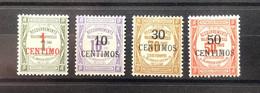 MAROC Taxe Série N°6 à 9 * Très Frais TTB - Postage Due