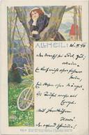 Philipp & Kramer . 1898 . All Heil . Serie VII/4 . Femme . Velo . Art Nouveau - Other Illustrators