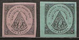 HONDURAS: (*), N ° YT 1 Et 2, TB - Honduras