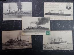 LOT Cartes Postales BATEAU DE GUERRE 5x - Militaire - 5 - 99 Karten