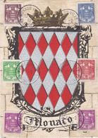 Carte Maximum Monaco 1939 Armoiries 154 à 158 - Cartoline Maximum