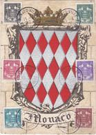 Carte Maximum Monaco 1943 Armoiries 249 à 254 - Cartoline Maximum