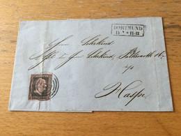 K17 Preussen 1856 Brief Von Dortmund Nach Haspe - Preussen