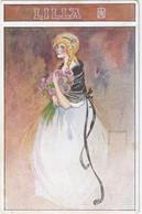 """1910 Illustratore PINOCCHI E.  - """"LILLA"""" Ragazza Con Fiori - Unclassified"""