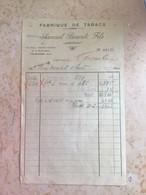 Algérie: Facture Commerciale à Entête Judaïca - Laghouat 1943 - Levensmiddelen