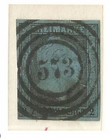 "2 101a Preussischer Nummernstempel ""573"" BPA Halle Bahnpost - Prussia"