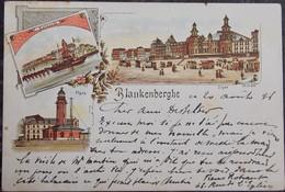BELGIQUE BELGIË - Litho Multi-Vues BLANKENBERGHE BLANKENBERGE 1896 - Blankenberge