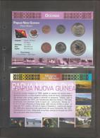 Papua Nuova Guinea - Folder Bolaffi Con Serie Mint Set FdC Completa Km1/6 - Papua New Guinea