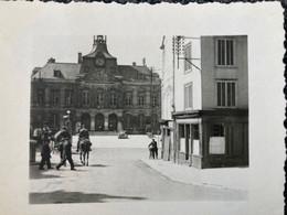 WW2 Photo Allemande Chaumont 1940 Convoi Hippomobile Hôtel De Ville  Haute Marne - Guerre, Militaire