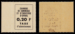 France Grève N° 4 (Epinal) Neuf ** Signé Calves Superbe Qualité - Cote 120 Euros - Huelga